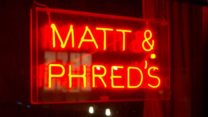 matt and phreds neon, jazz bars manchester, jdparties